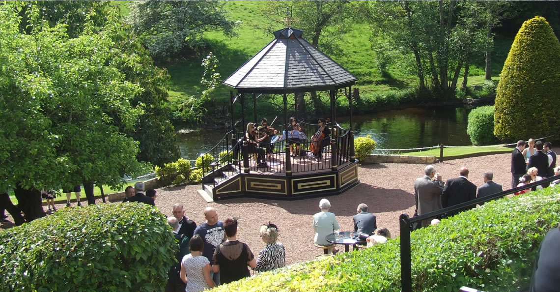 Great Outdoors: Create the perfect setting with a string quartet in our bandstand